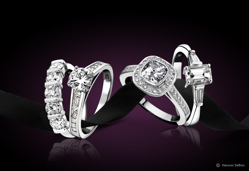 Jewellery Photography - Diamond Rings
